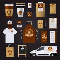 design della corporate identity del caffè vettore