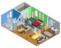 House Interior Design vettore