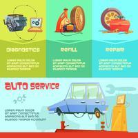 Set infografica servizio automatico vettore