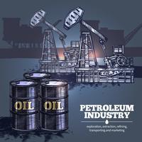 Sfondo di industria petrolifera