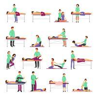 Set di icone di massaggio