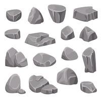 Elementi di rocce e pietre vettore