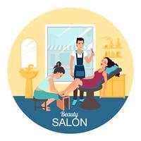Illustrazione della stazione termale del salone di bellezza