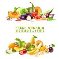 Concetto di design di frutta e verdura fresca vettore