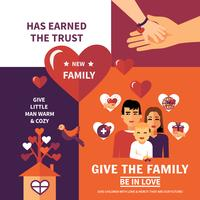 Design di composizione di banner piano di adozione di beneficenza