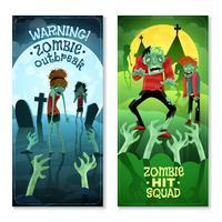 Set di banner zombie vettore