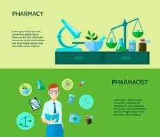 Set di due banner di farmacista