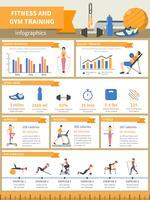 Fitness e palestra formazione infografica vettore
