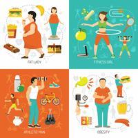 Obesità e concetto di salute vettore