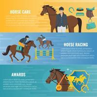 Bandiere sportive a cavallo vettore