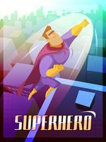 Illustrazione di poster di supereroi