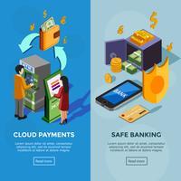 Insegne bancarie isometriche verticali