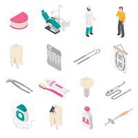 Icone dentarie di colore vettore