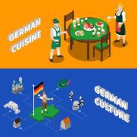 Bandiere isometriche dei turisti di cultura tedesca