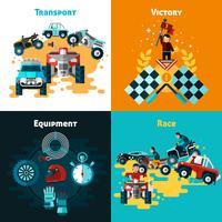 Set di icone Offroad Concept