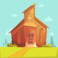 Priorità bassa del fumetto di chiesa vettore