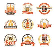 Set di logo della fabbrica di birra