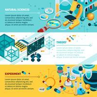 Set di banner di scienza vettore