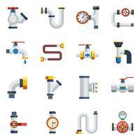 Set di icone di tubi vettore