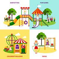Concetto di design del parco giochi