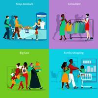 Set di icone di concetto di acquisto