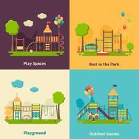 Concetto di parco giochi piatto