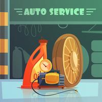 Illustrazione di servizio automatico vettore