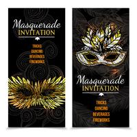 Banner di carnevale in maschera vettore