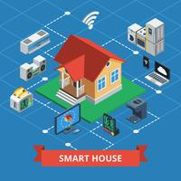 Smart House isometrica vettore