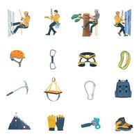 Icona di attrezzature per arrampicata vettore