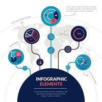 Insieme di elementi di Infographic di scienza planetaria dello spazio vettore