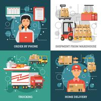 Concetto di design di consegna logistica
