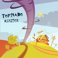 Illustrazione di disastro di tornado