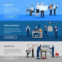 Insegne orizzontali dei lavoratori della fabbrica
