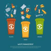Illustrazione di ordinamento della spazzatura vettore