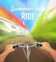 Poster con manubrio colorato vettore