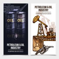 Banner verticale dell'industria petrolifera vettore