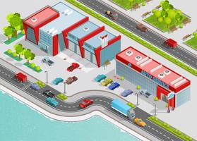 Composizione isometrica servizio auto vettore