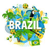 Manifesto del Carnevale del Brasile vettore
