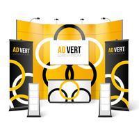 Stand espositivo Black Yellow Design vettore