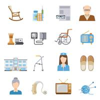 Cura anziana nelle icone di casa di cura