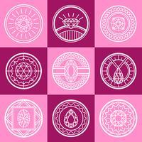 Set logo loghi gioiello