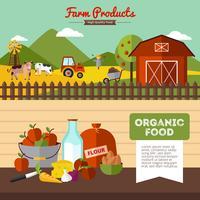 Due banner di fattoria in stile piatto