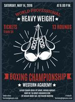 Poster di pugilato Campionato professionale