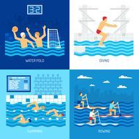 Concetto di sport acquatici vettore
