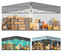 Set di composizioni di magazzino e di stoccaggio