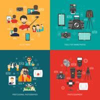 Set concetto di fotografia vettore