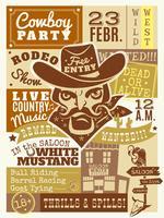 Illustrazione del manifesto del cowboy
