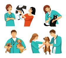 Set di persone veterinarie