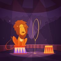 Illustrazione del leone del circo
